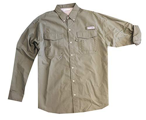 b1a9322d1f4 Columbia Men's PFG Omni-Shade UPF 30 Distant Water Convertible Sleeve Shirt  (S, Military Green)