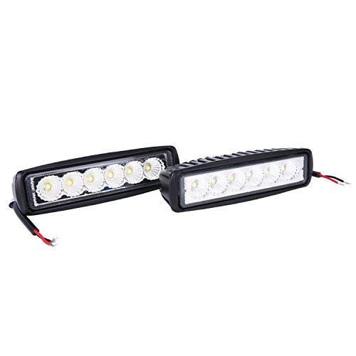 2x18W LED Arbeitslicht Offroad Reflektor Scheinwerfer Arbeitsscheinwerfer Schwarz