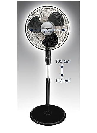 Honeywell HS-216E Ventilador de Pie Oscilante, 50 W, 3 Velocidades, Negro: Amazon.es: Hogar