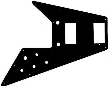BLACK//CREAM//BLACK NEW Pickguard For /'70/'s Kalamazoo Made Gibson Flying V