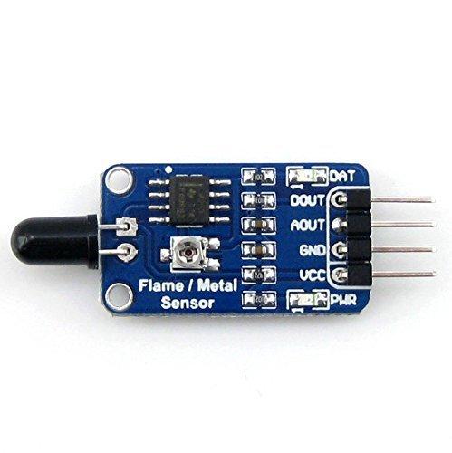puuli llama módulo de Sensor Detector de alarma de incendio llama por infrarrojos para Arduino: Amazon.es: Electrónica