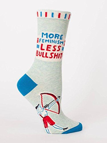 Blue Q Socks, Women's Crew, More Feminism Less Bulls--t