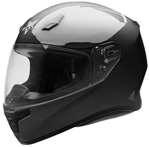 Vega Helmets XXXXXL AT2B Street Motorcycle Helmet for Men & Women – DOT Certified Full Face Motorbike Helmet for Cruisers Sports Street Bike Scooter Touring Moped Moto (Gloss Black, 5XL) (Motorcycle Vega Waterproof)