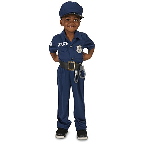 Police Officer Toddler Dress Up Costume 2-4T