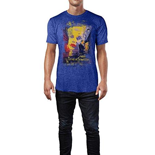 SINUS ART® The Woman Herren T-Shirts stilvolles blaues Cooles Fun Shirt mit tollen Aufdruck