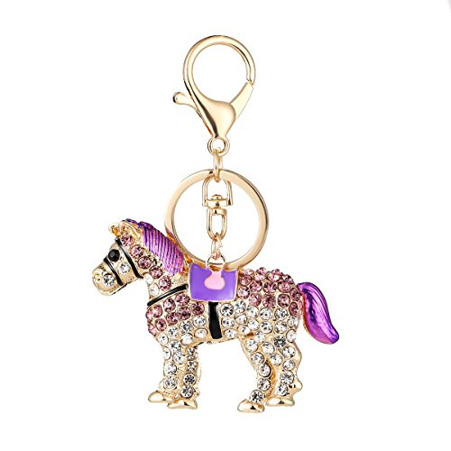 Horse Pendent (Aibearty Exquisite Crystal Rhinestone Horse Keychain Bag Charm Pendent)
