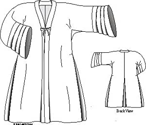 "Woman's Bedgown ""Manteau De Lit"" - 1730-1770 Pattern"