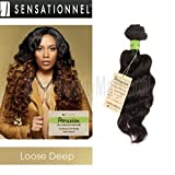 Sensationnel Unprocessed Peruvian Virgin Remy Human Hair Weave Bare & Natural Loose Deep [20