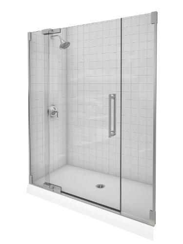 Kohler K-705717-L-NX Purist Heavy Glass Pivot Shower Door, 57 1/4