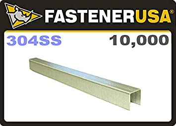 1,000  Stainless  Steel  3//4  inch  Leg  1 inch Crown  Roofing  Staples