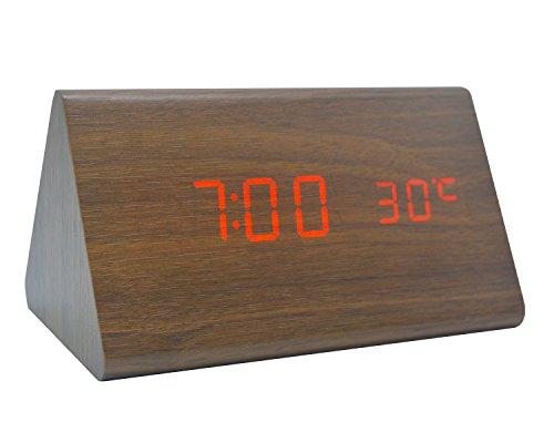 Sound environmental LED wood clock creative clock - 5