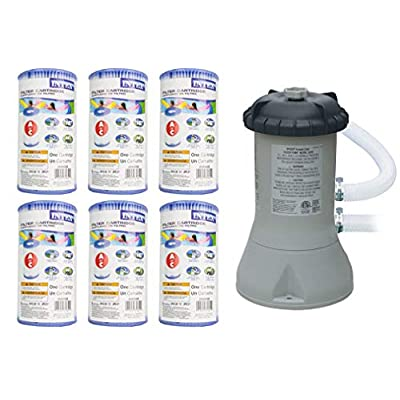 Intex 1000 GPH Easy Set Pool Filter Pump w/GFCI & 6 Type A Filter Cartridges : Swimming Pool Water Pumps : Garden & Outdoor