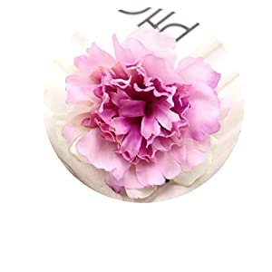 30PCS Decorative Flowers Artificial Silk Flowers Carnation Flower Heads for Home Garden/Wedding Party Decoration Purple