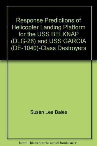 Response Predictions of Helicopter Landing Platform for the USS BELKNAP (DLG-26) and USS GARCIA (DE-1040)-Class Destroyers