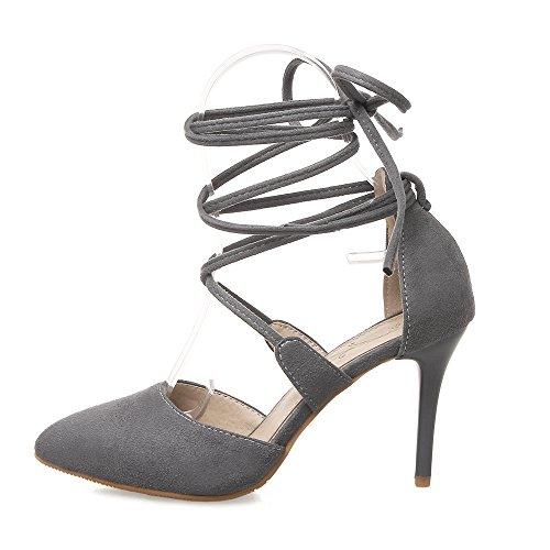 Fashion Heel - Zapatos de Tacón mujer, color gris, talla 42
