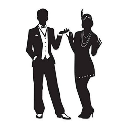 Gatsby ROARING 20s COUPLE SILHOUETTES Party Decorations