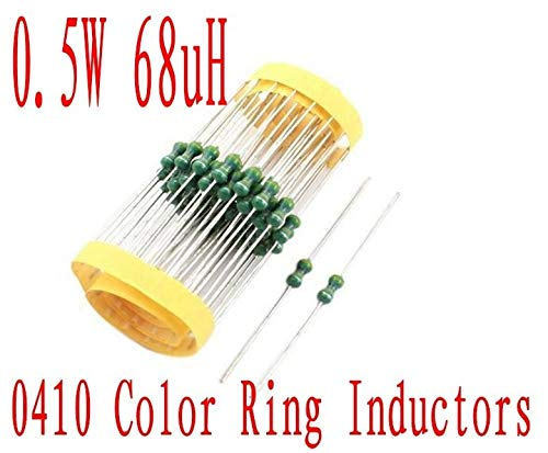 Maslin 2000Pcs 0410 Color Ring inductance 1//2w DIP Inductor 68uh Axial Lead Inductors 0.5W