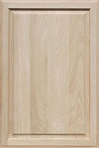 Unfinished Oak Cabinet Door, Square with Raised Panel by Kendor 33H x 22W by Kendor