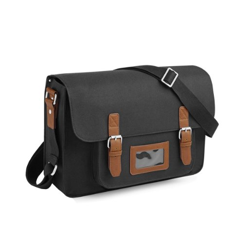 Quadra - Borsa a tracolla con tasca per tablet/IPad (Taglia unica) (Nero)