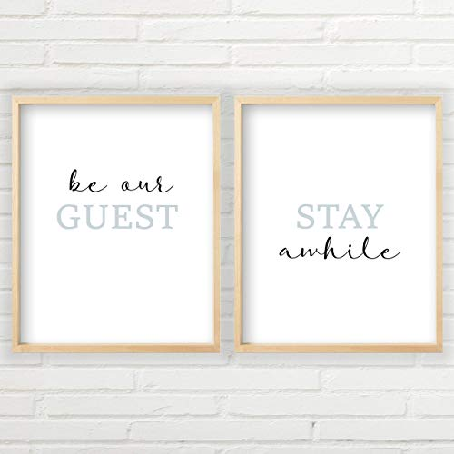 Be Our Guest, Stay Awhile Wall Decor | UNFRAMED 11