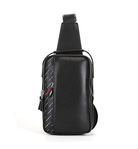 Spalla Casual Sport Moda Il Skitor Impermeabile Sling Semplice Per Multifunzione Mini Tracolla Nero Monospalla Petto Unicolor Borsa Viaggio Pelle Zaino Vintage Bag A Uomo w1Xq01Y