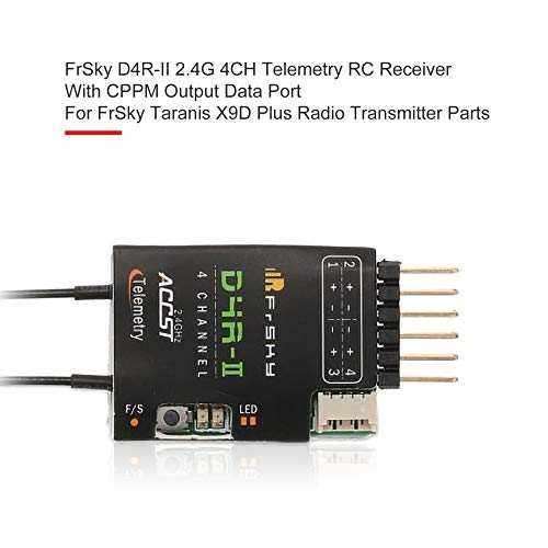 FrSky D4R-II 2.4G 4CH Telemetry RC Receiver with CPPM Output Data Port for FrSky Taranis X9D Plus Radio Transmitter Parts❤️