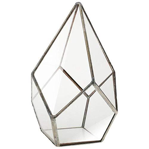 Face Planter - Hot Sale of Five Faces Large Diamond House Geometric Glass Flower Home Decor Plant Pot