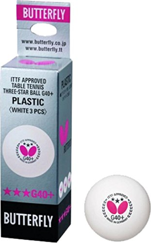Butterfly G40+ 3 Star Table Tennis Sports Match Playing Ping Pong Balls Box Of 3 by Butterfly