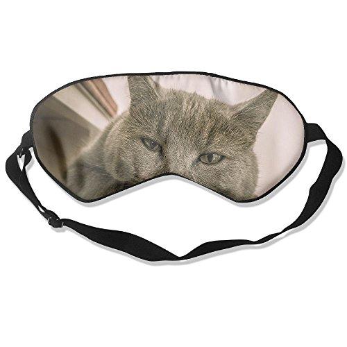 WUGOU Sleep Eye Mask Cute Gray Cat Front