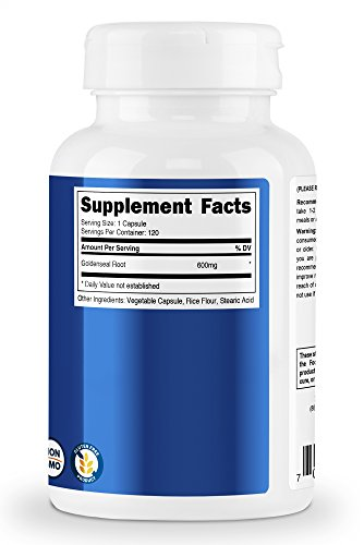 Nutricost Goldenseal Root 600mg, 120 Capsules (3 Bottles) - Non-GMO, Gluten Free, Veggie Caps by Nutricost (Image #3)