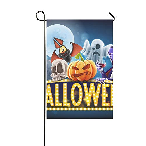 WBSNDB Home Decorative Outdoor Double Sided Halloween Banner Garden Flag,House Yard Flag,Garden Yard Decorations,Seasonal Welcome Outdoor Flag 12 X 18 Inch Spring Summer Gift]()