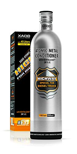 XADO Highway Atomic Metal Conditioner Revitalizant for Diesel Engine Truck (Wending, Bottle, 950 ml) – Anti Friction Oil Additive, Maximum Engine Protect & Repair Treatment – High Mileage Formula
