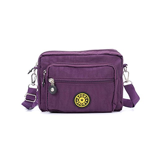 Messenger SALLY Bag Cross Purple YOUNG Body Women Dark Casual Portable Bag Solid Travel BB0rxq