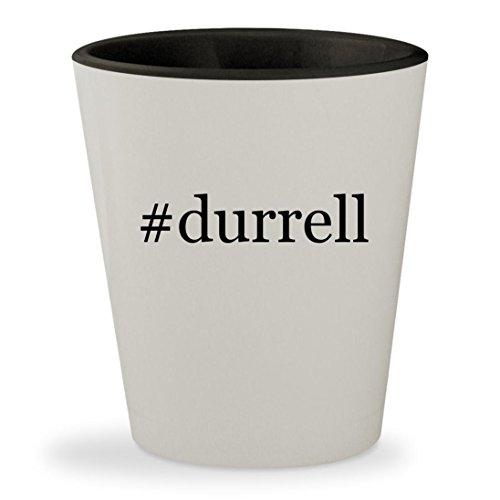 #durrell - Hashtag White Outer & Black Inner Ceramic 1.5oz Shot Glass