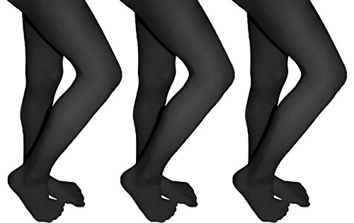 Butterfly Girls Microfiber Opaque Colored Tights 3 Pack Available in 14 Colors (10-12, (Coloured Opaque Tights)