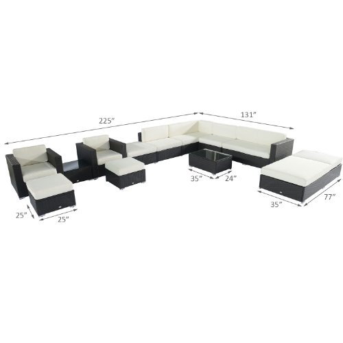 Outsunny-14pc-Outdoor-PE-Rattan-Wicker-Sectional-Patio-Sofa-Furniture-Set