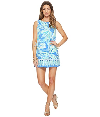 Lilly Pulitzer Women's Donna Romper, Beckon Blue Palm Passage, 10 by Lilly Pulitzer