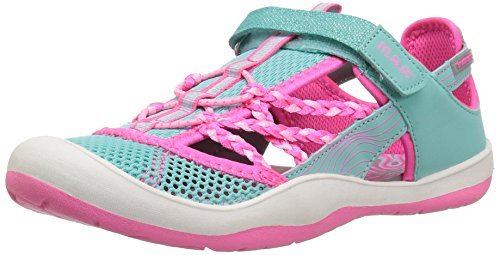 M.A.P. Ionia Girl's Outdoor Sport Sandal, Aqua, 3 M US Little Kid