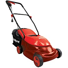 Snow Joe Sun Joe MJ401E-RED Mow Joe 14-Inch 12 Amp Electric Lawn Mower With Grass Bag, Red