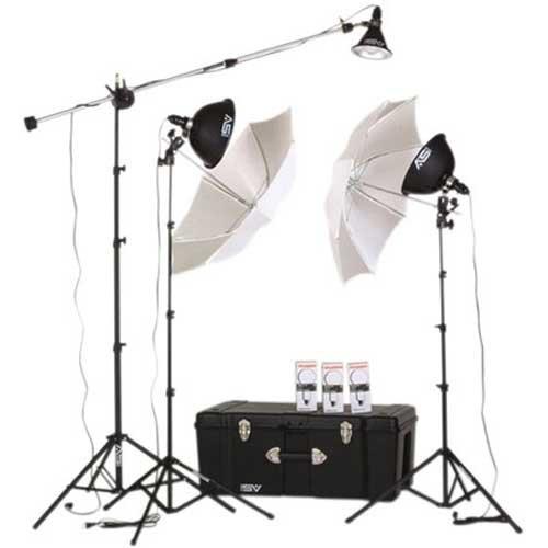 - Smith Victor KT900 3 Light 1250-Watt Thrifty Mini-Boom Kit