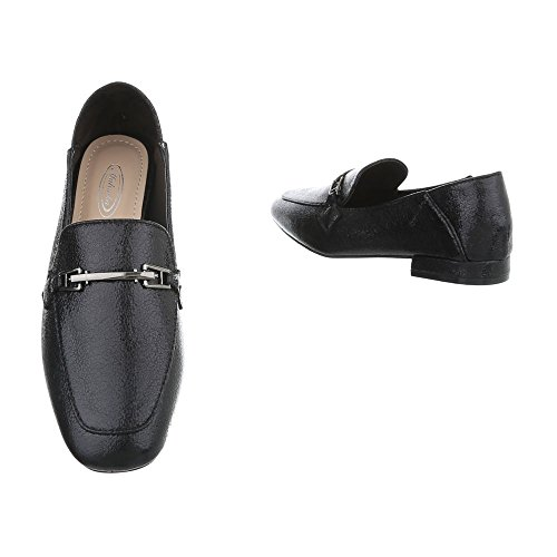 Black 3 Ital Loafer Design Slippers Heel 266 Block Women's Flats at ngfp8qnF