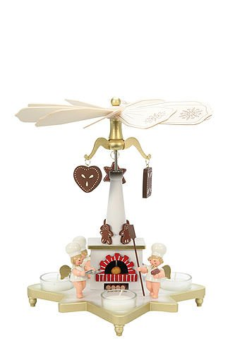 1-tier German Christmas Pyramid Baker German Christmas Angel - 27cm / 11inch - Christian Ulbricht