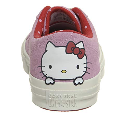Adultes Star Kitty One Converse Chaussures De Ox Forme Remise Hello Rose Unisexes Lifestyle En Cuir Pour TqqPYxZ1Bw