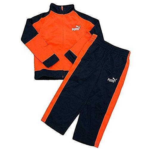 Set di tricot di Little Boy per Stripe Side, arancione, misura 4
