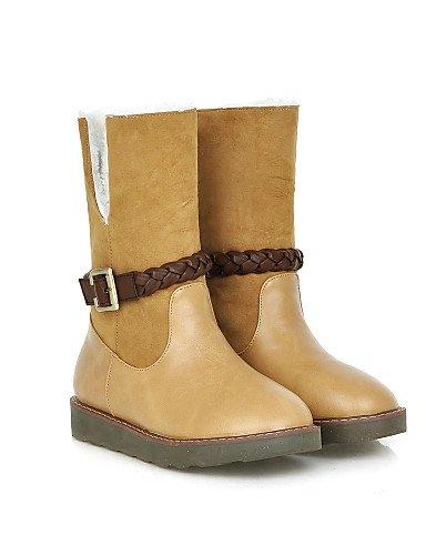 Brown Redonda Eu39 Cerrada Nieve Xzz Botas Vestido Uk6 us8 Punta Zapatos Mujer Cn39 Y Trabajo Casual Exterior Plataforma De Oficina wx0RqAZ