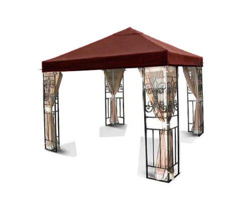 New MTN Gearsmith 10'x10' Single One Tiered Replacement Garden Gazebo Canopy Top Sun Shade - Nutmeg (New Gazebo)