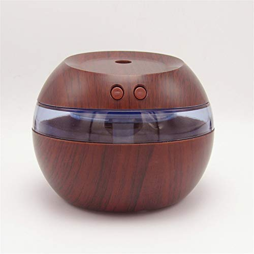 ZnMig Quiet Operation Personality Wood Grain Humidifier Home Office Ultrasonic Atomizer USB Mini Humidifier Desktop Purifier (Color : B)