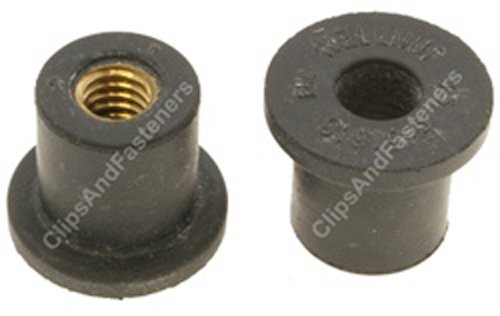 10 5//16-18 Thread Well Nuts Hole Size 5//8 Clipsandfasteners Inc