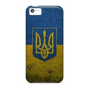 Apple Iphone 5c Jtr28560pKLn Provide Private Custom Colorful Grunge Ukraine Presidential Flag Image High Quality Hard Phone Cases -CASE