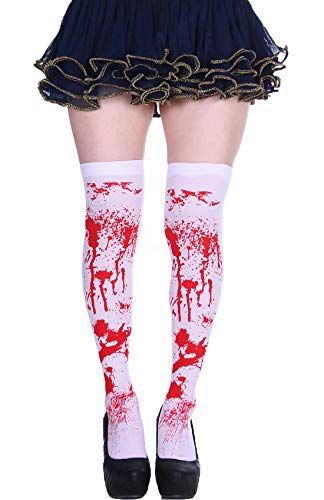 Womens Halloween Kawaii Pattern Over the Knee Socks Stretchy Thigh High Tights Cosplay Stockings ()